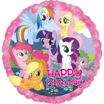 Standard My Little Pony Birthday Foil Balloon S60 Packaged 43 cm