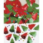 Confetti Christmas Trees Metallic Foil 14 g