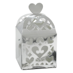 50 Favour Boxes Colourful Wedding Silver 6.3 x 6.3 x 6.3 cm