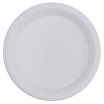 10 Plates Plastic Clear 17.7cm