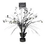 Spray Centrepiece Birthday Accessories - Black & White Personalize It