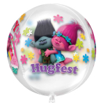 "Orbz ""Trolls"" Foil Balloon Clear, G40, packed, 38x40 cm"