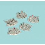 6 Tiaras Metallic Plastic 4.5 x 3.1 cm