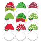 8 Head Bands Christmas Plastic / Paper 13.4 x 20.2 cm