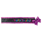 Sash Birthday Chic Fabric 142 x 12.7 cm