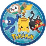 8 Plates Pokemon Core Paper Round 22.8 cm