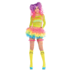 Tutu with Attached Suspenders Electric Party Size M / L