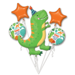 Bouquet Dino-Mite Party Foil Balloon P75 packaged