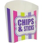Chips & Sticks Box Paper      Pastel Rainbow Stripes