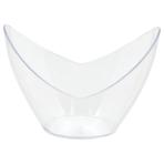 10 Mini Oval Dishes Plastic Clear 73 ml