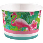 8 Ice Bowls Flamingo Paradise Paper 270 ml