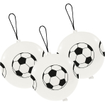 "3 Latex Balloons Punch Balls Soccer 35.5 cm / 14"""