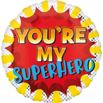 Standard You'Re My Superhero Foil Balloon S40 Packaged