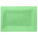 3 Platters Kiwi Green Plastic Rectangular 33 x 23 cm