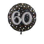 Multi Balloon Sparkling Birthday 60 Foil Balloon P75 Packaged 81 x 81 cm