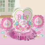Table Decoration Kit Welcome Little One - Girl 23 Pieces
