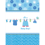Tablecover Shower With Love - Boy 137 x 243 cm