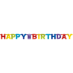 Letter Banner Bright Birthday Foil 213 cm