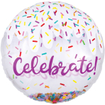 Jumbo Confetti Balloon Celebrate Foil Balloon P45 packaged
