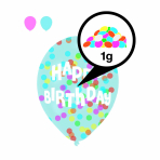 6 Latex Balloons Droplets Happy Birthday 1C Confetti Filled assorted Paper 27.5 cm / 11""