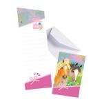 8 Pretty Pony Invitations & Envelopes Paper 14.2 x 8 cm
