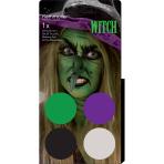 Aqua Kit Witch (4 x Face Paint 3.5 g / 1 Brush)