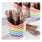 24 Snack Containers Paper     Minis rainbow 9,5 x 3,3 x 9,5 cm