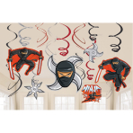 12 Swirl Decorations Ninja