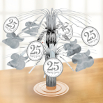 Table Centrepiece Silver Anniversaries