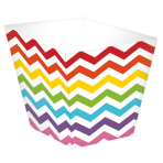 36 Treat Cups Paper Minis rainbow 4,4 x 4,4 x 4,9cm