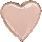 "Standard ""Rose Gold Decorator"" Foil Balloon Heart, S15, bulk, 43cm"