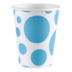8 Cups Caribbean Blue Dots Paper 266 ml