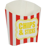 Chips & Sticks Box Paper Red   Sripes