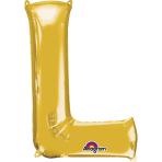 SuperShape Letter L Gold Foil Balloon L34 Packaged 58cm x 81cm