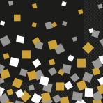 16 Lunch Napkins Sparkling Confetti 33 cm
