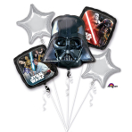 "Bouquet ""Star Wars Classic"" 5 Foil Balloons, P75, packed"