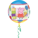 """Orbz """"Peppa Pig"""" Foil Balloon Clear G40 packed 38x40cm"""