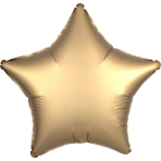 "Standard ""Satin Luxe Gold Sateen"" Foil Balloon Star, S15, packed, 43cm"