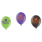 """6 Latex Balloons Happy Halloween 27.5 cm / 11"""""""