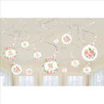 12 Swirl Decorations Floral Baby