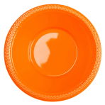 10 Bowls Plastic Orange Peel 355 ml