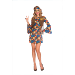 Adult Costume 60's Groovy Hippy Woman Size S