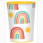 8 Cups Retro Rainbow Paper 250 ml