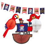 Decoration Kit (1 Flag Banner and 3 Honeycombs) Pirates Map
