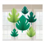 6 Fan Decorations Palm Leaf Paper 20.3 cm ( 30.4 cm / 40.6 c