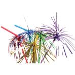 10 Drinking Straws Glitterfoil Plastic 24 cm