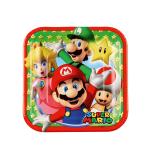 8 Plates Super Mario Paper Squared 17.7 x 17.7 cm