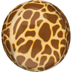 Orbz Giraffe Print Foil Balloon G20 Packaged