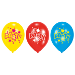 6 Latex Balloons Balloon Party 2 22.8 cm / 9""