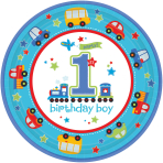 8 Plates All Aboard Birthday 23 cm